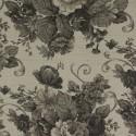 Tecido Linho Provence Floral Preto