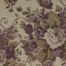 Tecido Linho Provence Floral Lilás