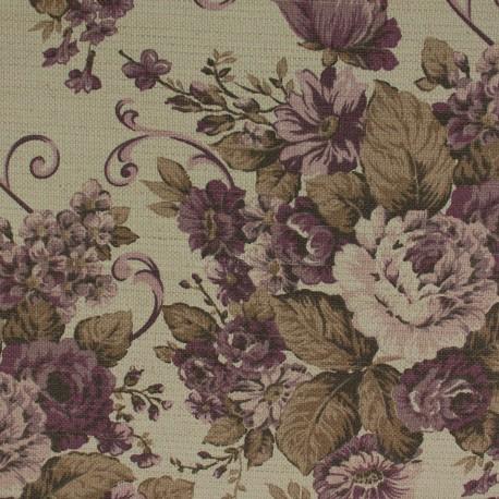Linho Provence Floral Lilás