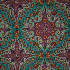 Tecido Gorgurão Waterblock Mandala Liláz/ Tiffany