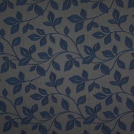 Tecido Veludo Provence Cinza c/ Azul