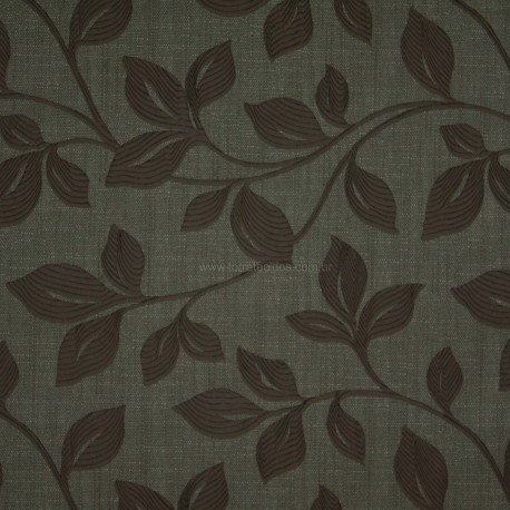 Tecido Veludo Provence Fendi c/ Marrom