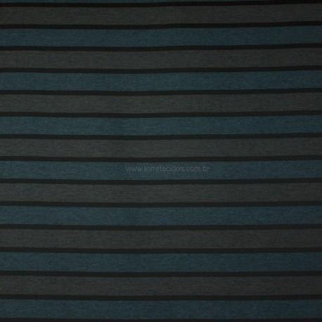 Tecido Jacquard Maltese Listrado Azul