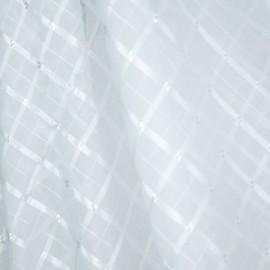 Tecido Voil Xadrez Branco