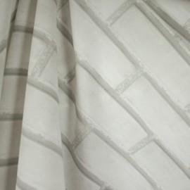 Tecido Gorgurão Belize Tijolo Cinza