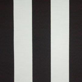 Tecido Gorgurão Belize Listras Preto/Branco