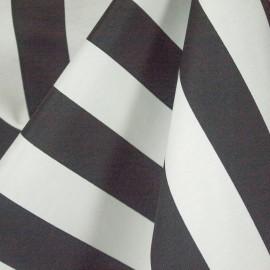 Tecido Gorgurão Belize Listras Preto e Branco