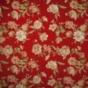 Tecido Gorgurão Belize Floral Vermelho