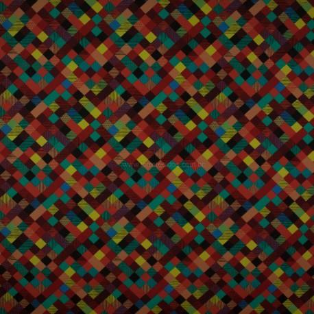 Tecido Gorgurão Waterblock Mosaico