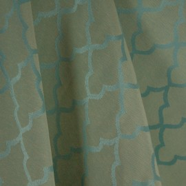 Tecido Jacquard Alfaiataria Azul/Bege
