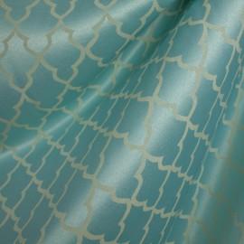 Tecido Jacquard Alfaiataria Azul/Bege