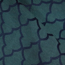 Tecido Jacquard Alfaiataria Azul