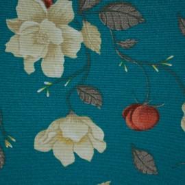 Tecido Gorgurão Belize Flores Do Campo Azul
