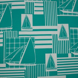 Tecido Gorgurão Waterblock Barcos Tiffany