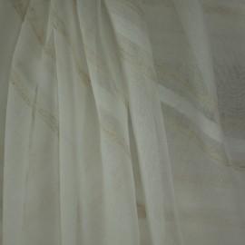 Tecido Voil Linho Branco Listra Mariana