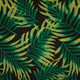 Tecido Jacquard Marble Palmeira Preto/Verde