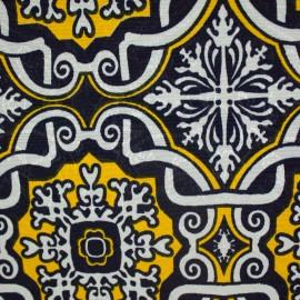 Jacquard Marble Azulejo Marinho/Amarelo