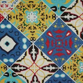 Tecido Jacquard Marble Azulejo Azul