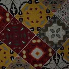 Tecido Jacquard Marble Azulejo Preto