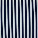 Tecido Gorgurão Belize Listras Finas Azul Marinho/Branco