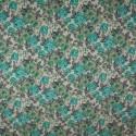 Tecido Gorgurão Belize Floral Cheio Tiffany