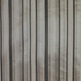 Tecido Shantung Listrado Preto/Cinza
