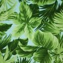Tecido Gorgurão Belize Folhas Azul/verde
