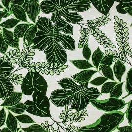 Tecido Gorgurão Belize Folhas De Lirio