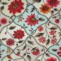 Tecido Gorgurão Belize Floral Decorativo Azul