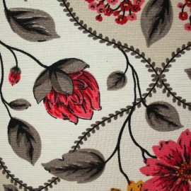 Tecido Gorgurão Belize Floral Decorativo