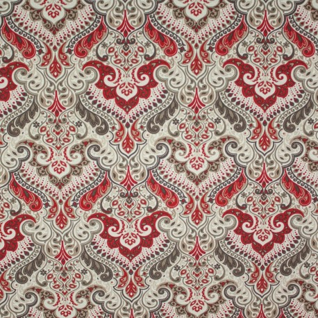 Tecido Gorgurão Belize Marroquino Vermelho