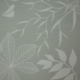 Tecido Gorgurão Waterblock Floral Cinza