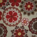 Tecido Gorgurão Waterblock Mandala Vermelha