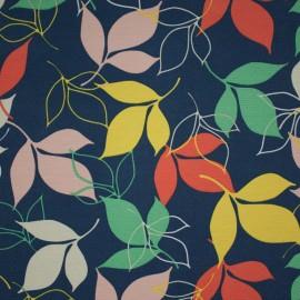 Tecido Gorgurão Waterblock Folhas Azul