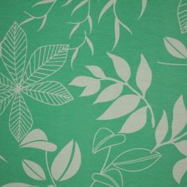 Tecido Gorgurão Waterblock Floral Verde