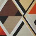 Tecido Gorgurão Waterblock Geometrico Triangulo Marrom
