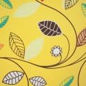 Tecido Gorgurão Waterblock Folhas Amarelo