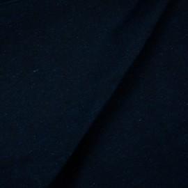 Tecido Jacquard Liso Preto Com Azul Marinho