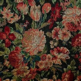 Tecido Gobelem Pixel Floral Preto