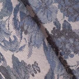 Tecido Gobelem Pixel Floral Azul