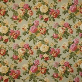 Tecido Algodão Floral Rosa de Saron