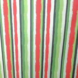 Tecido Gorgurão Waterblock Aquarela Vermelho/Verde