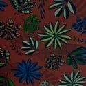 Tecido Gorgurão floral carmin