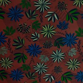 Gorgurão floral carmin