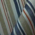 Tecido Algodão Digital Listras Azul/Vermelho