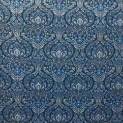 Tecido Gorgurão Arabesco Azul