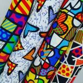 NOVIDADES!!! Novos tecidos para área externa com estampas do Romero Brito..😉